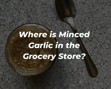 minced garlic in grocery store